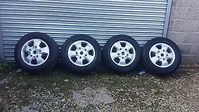 "Brand New Set Of 4 16"" Genuine Ford Transit Custom Alloy Wheels Tyres limited"