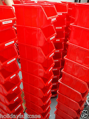 ecobox 112 red maxi storage racking bins job lot x 170 pcs 160 x 250 x 129 mm
