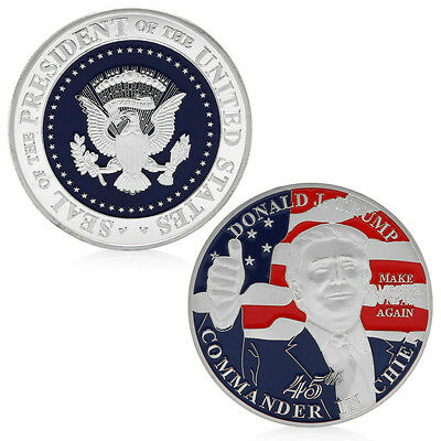 45th President Of USA Donald Trump Commemorative Coins Challenge Coins Art 2016