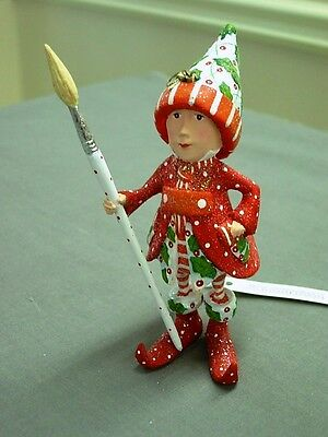 Patience Brewster Krinkles Dash Away Vixen's Painter Elf Ornament New For 2012