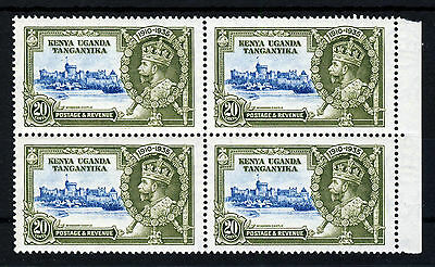 KUT King George V 1935 Silver Jubilee 20c. Block of Four SG 124 MNH