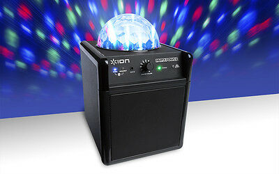 Ion Audio Party Power Bluetooth Lautsprecher mit LED Disco Party Beleuchtung