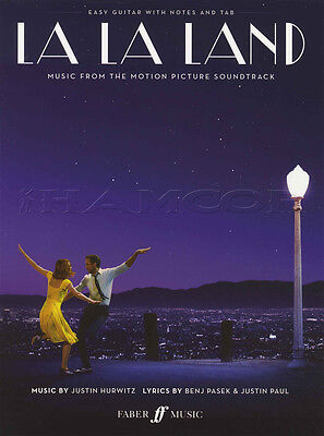 La La Land for Easy Guitar TAB & Notation Music Book Planetarium Start A Fire