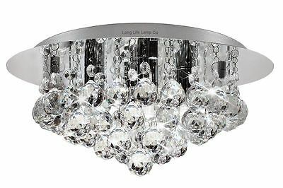 Modern Elegant Round Chandelier Ceiling Light Stunning Crystal Droplets M0017