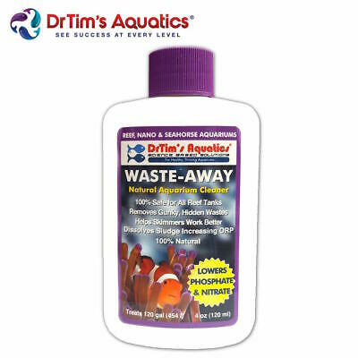 Dr Tims Waste-Away Reef Marine Aquarium Natural Aquarium Cleaner DrTim's 120ml
