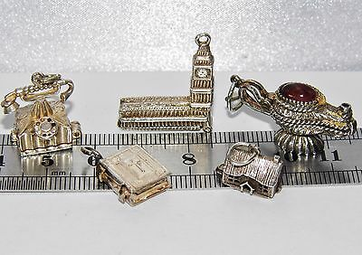 LOT OF 5 X VINTAGE STERLING SILVER CHARM'S - 20.6 grams
