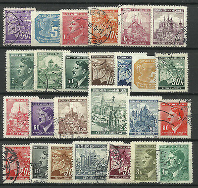 GERMANY BOHEMIA & MORAVIA STAMP COLLECTION PACKET of 25 DIFFERENT Stamps MNH