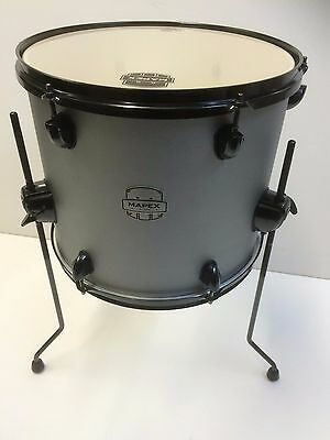 Mapex Storm 14x12 floor tom in textured grey with black legs and hardware