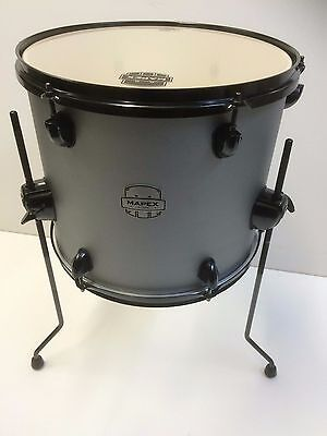 Mapex Storm 16x14 floor tom in textured grey with black legs and hardware
