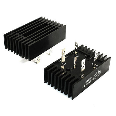 2Pcs QL Type 4 Pins Diode Heatsink Bridge Rectifier 100A 1200V