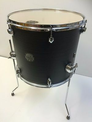 Mapex Storm 14x12 floor tom in ebony wood grain blue with legs and hardware