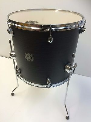 Mapex Storm 16x14 floor tom in ebony wood grain blue with legs and hardware