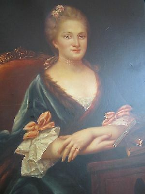 18Th Century  Portrait   Oil Painting In The Style Of Sir Joshua Reynolds