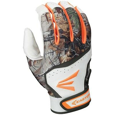 AEaston HS7 Real Tree Hyperskin Youth Batting Gloves Small White/RealTree - NEW