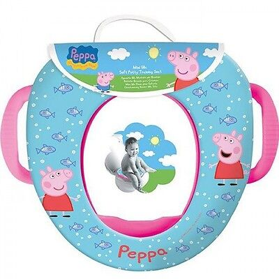 Peppa Pig Potty Training & Travel Toddlers Padded Toilet Seat With Handles