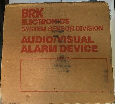 BRK Visual Signaling Device SS-12 Sounder With 12V Strobe - Fire Alarm