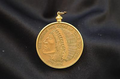 The Indian Has Come Up Tails Too Long Two Headed Novelty Coin with Bezel