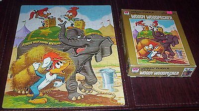 Woody Woodpecker Splinter KnotheadCircus Elephant Complete 1978 Puzzle with Box