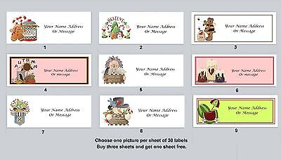30 Personalized Return Address Labels Primitive Country Buy 3 get 1 free (py5)