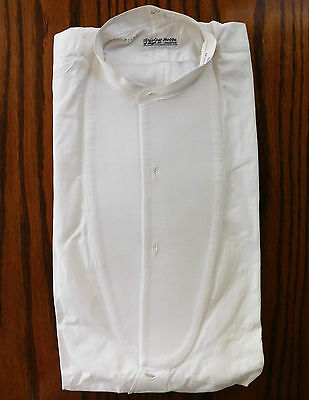 Starched Marcella shirt size 15.5 Bristow Hobbs mens vintage evening dress 1930s