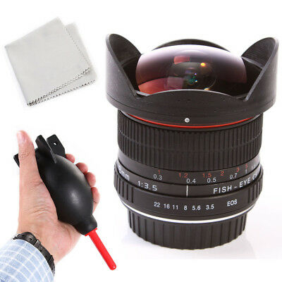 Super Wide 8mm f/3.5 Fisheye Lens for Canon 800D 77D 1300D 750D 760D 650D 600D