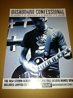 DASHBOARD CONFESSIONAL 2003 PROMO POSTER of Mark Mission CD USA MINT DOUBLE SIDE
