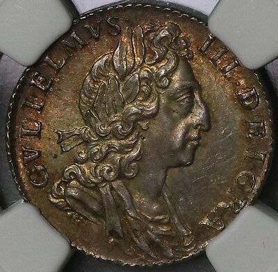 1700 NGC MS 62 William III Silver 6 pence GREAT BRITAIN Coin (16110612C)