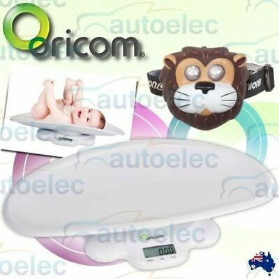 New Oricom Ds1000 Digital Lcd Electronic Baby Scales Babies 50 Kg Weight +Lion