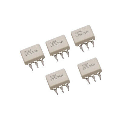 US Stock 5pcs MOC3063 Optocouplers 600V Triac Driver ZC Output Optocoupler New
