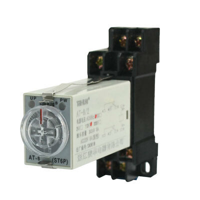 Panel Mounted Type 110V AC 5A 8-Pin DPDT 60s Power On Delay Time Relay Timer