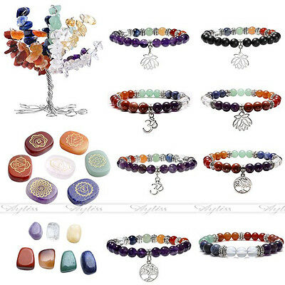 Life Of Tree Decoration Bracelet Agate Chakra Gemstones Series Free Combination