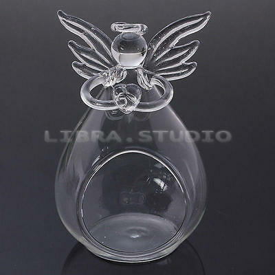 Tea Light Holder Party Bar Home Gift Angel Candlestick Glass Hanging Candle