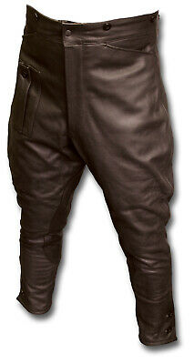 Wwii Style Leather Despatch Rider Breeches, Motorcycle Trousers, Brown [25038]
