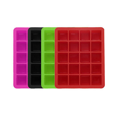 20-Cavity Large Cube Ice Pudding Jelly Maker Mold Mould Tray Silicone Tool HT