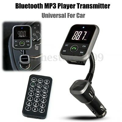 Wireless Bluetooth LCD Car Kit MP3 Player FM Transmitter SD USB Modulator+Remote