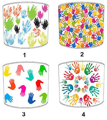 Children`s Lampshades Ideal To Match Children`s Hand Print Quilts & Bedspreads.