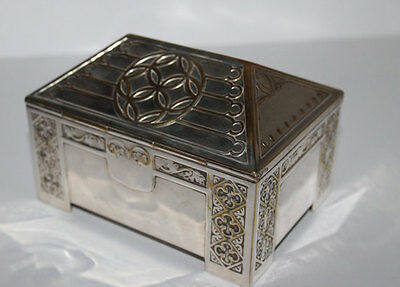 WMF Art Nouveau Silver Plated Wood Lined Box