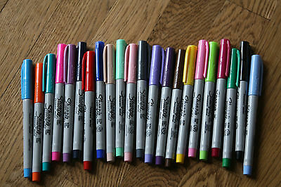 Lot of 22 NEW Sharpie Ultra Fine Point Markers Multiple Colors