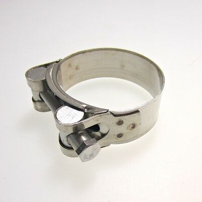 Heavy Duty Stainless Steel Motorcycle Exhaust Banjo Clamp Clip 52mm - 55mm