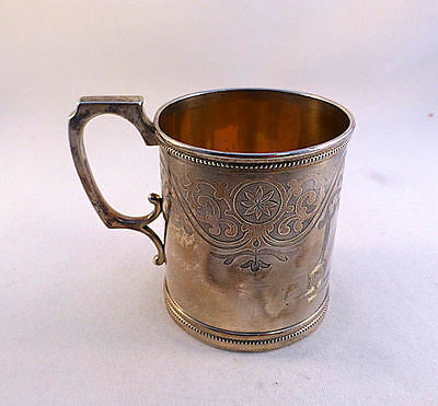 Coin Silver John L. Westervelt, New York,  Fancy Cup-3""