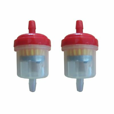 Universal Motorcycle Scooter Car Inline 6mm Magnetic Clear Fuel Filter Red x2
