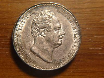 Great Britain 1834 Silver Shilling, AU Condition, SKU #8672