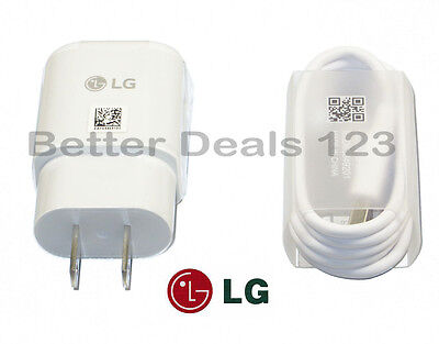 New OEM Original LG USB Type C Fast Charger & Cable For LG Smartphones G5 & G6
