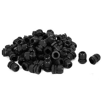 100 Pcs PG16 8-13mm Range Cable Glands Fixing Cord Connector Joint Adapter Black