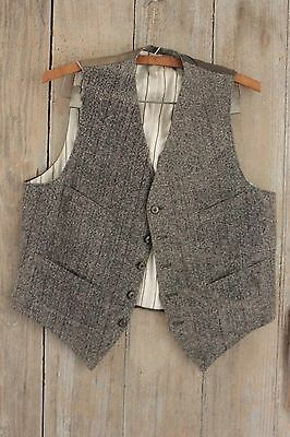 Men's vest waistcoat French clothes waistcoat clothing 1900's early old wool