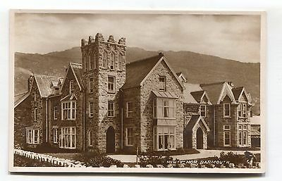 Barmouth - Min-Y-Mor - hotel? - old real photo postcard