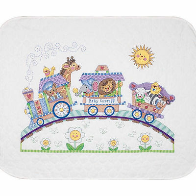 Baby Hugs Baby Express Quilt Stamped Cross Stitch Kit