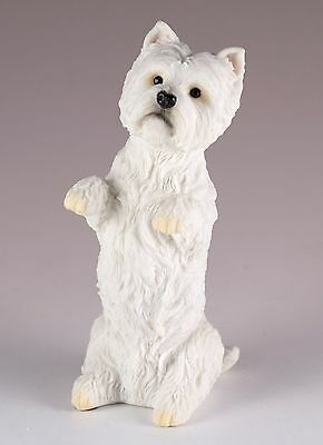 "Westie West Highland White Terrier Dog Figurine 4.25"" High Polystone New In Box"
