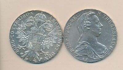 Austria - 1780 Maria Teresa Silver Crown Uncirculated - Bu