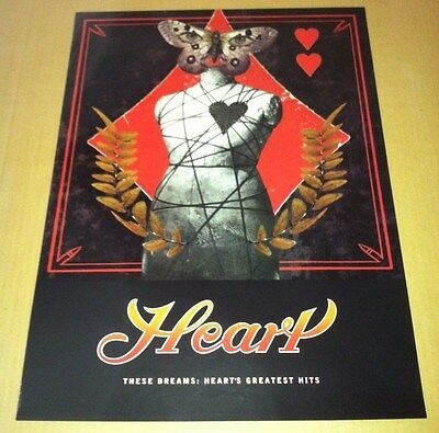 Ann & Nancy Wilson HEART 1997 PROMO POSTER For These Dreams greatest Hits CD